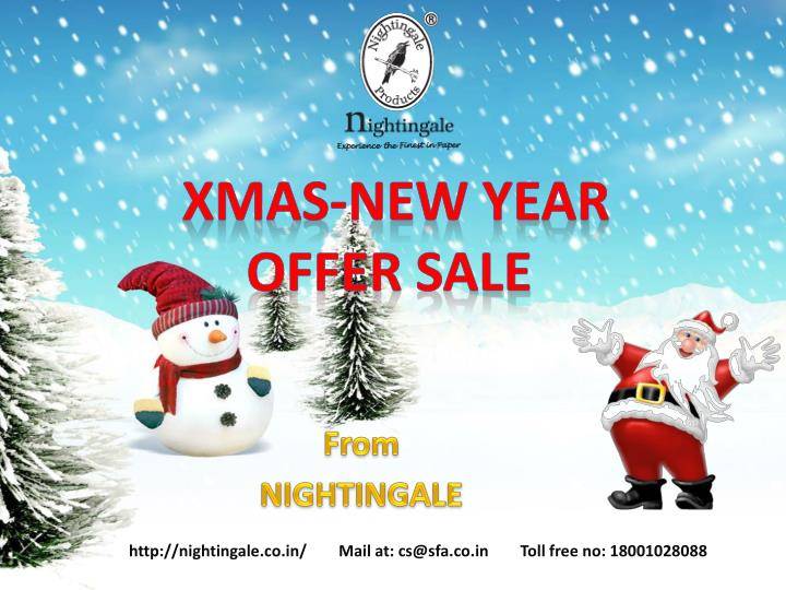 Xmas new year offer sale