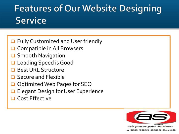 Features of Our Website Designing