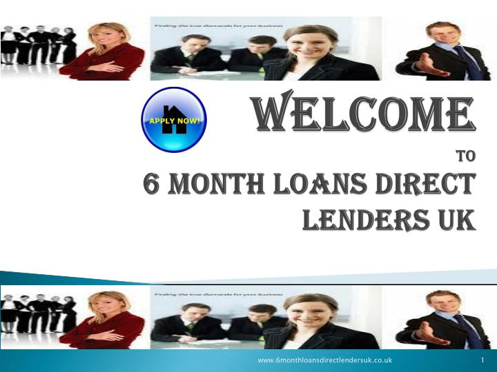 welcome to 6 month loans direct lenders uk n.