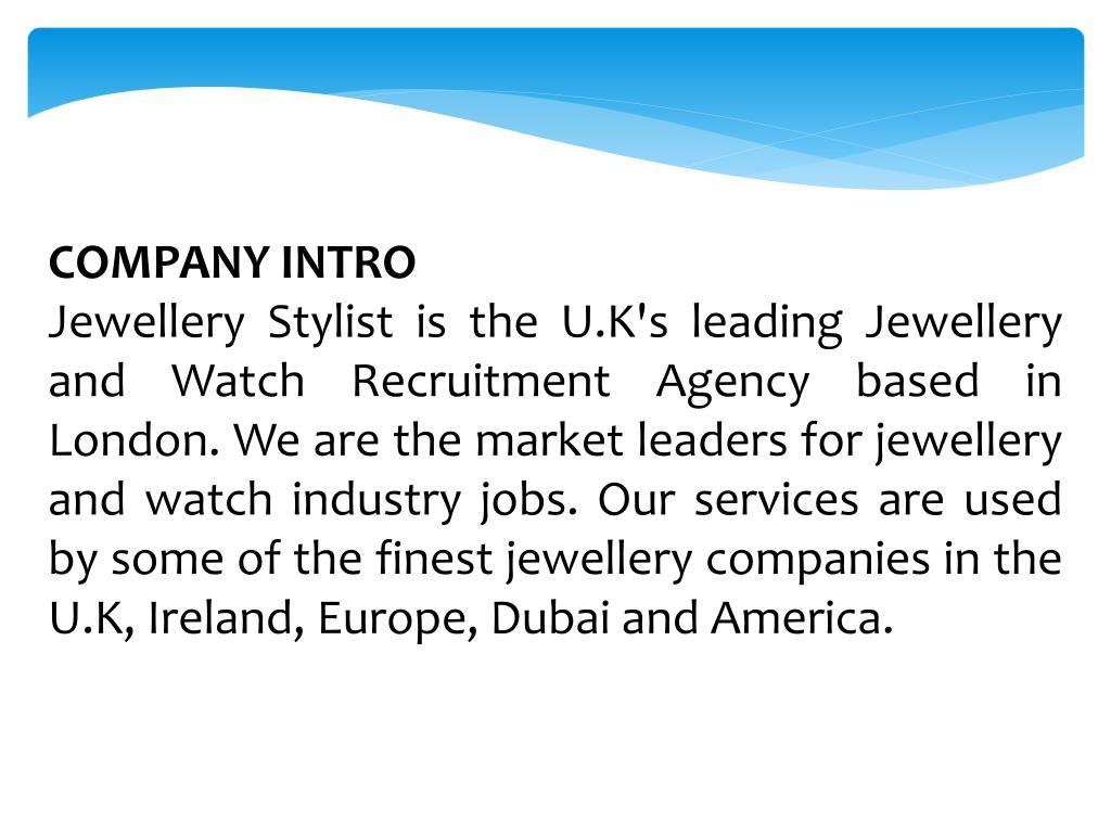 PPT - Jewellery Stylist   Jewellery Jobs and Jewellery
