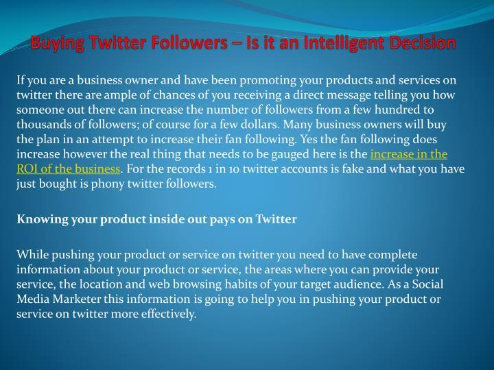 buying twitter followers is it an intelligent decision n.