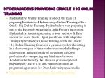 hyderabadsys providing oracle 11g online training