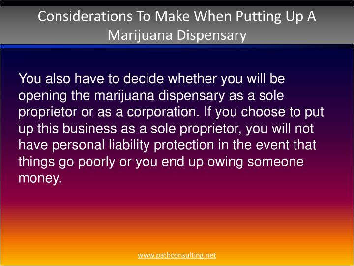 Considerations To Make When Putting Up A Marijuana Dispensary