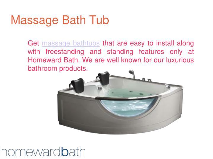 Massage bath tub