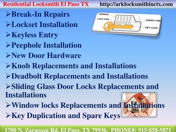 Residential Locksmith El Paso TX