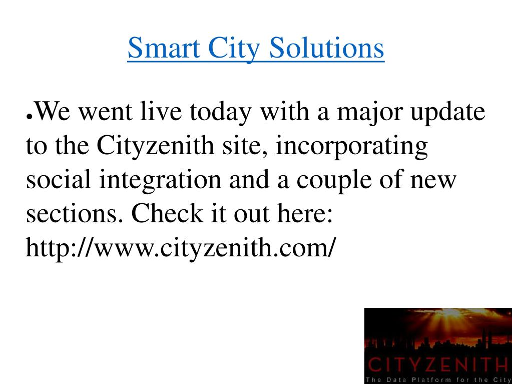 PPT - Smart Cities Software PowerPoint Presentation - ID:7111548
