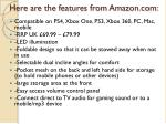 here are the features from amazon com