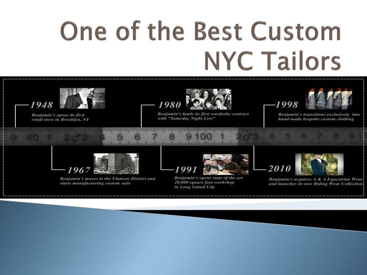 one of the best custom nyc tailors n.