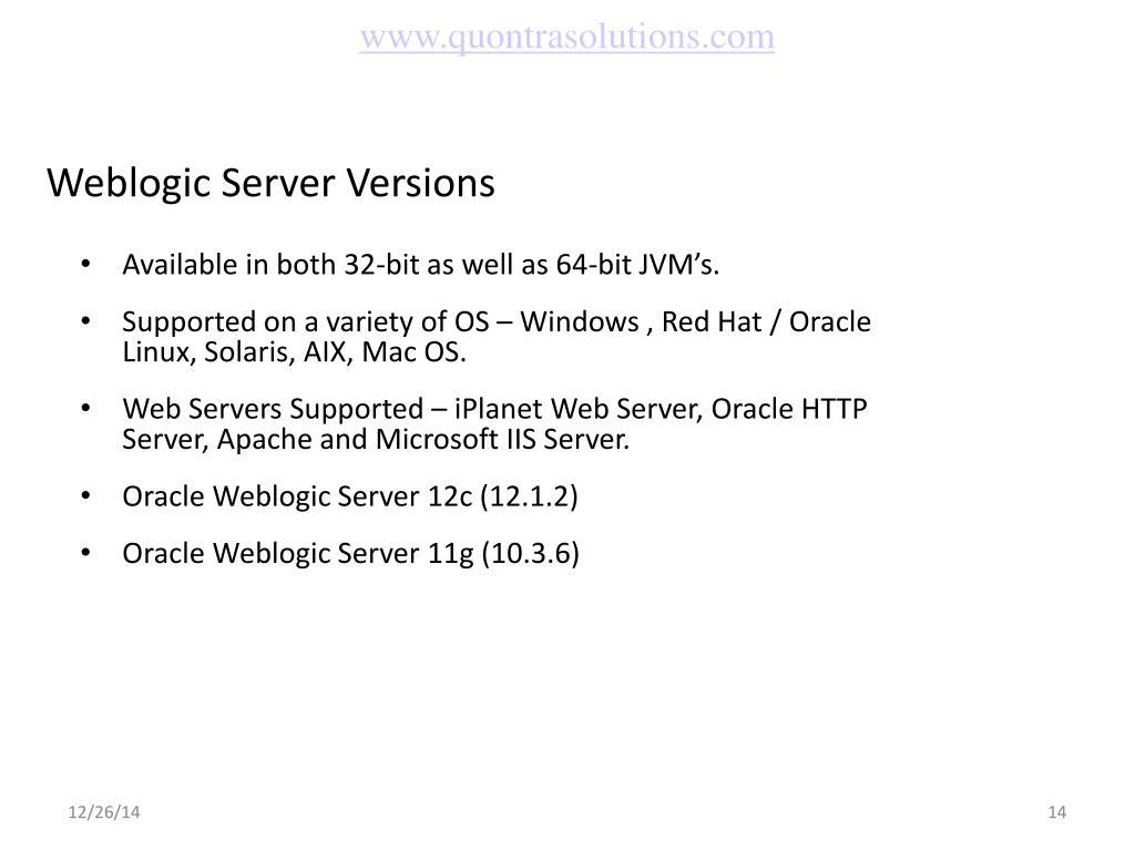 PPT - De-Mystifying Oracle Weblogic Server PowerPoint