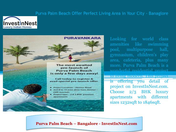 purva palm beach offer perfect living area in your city banaglore n.
