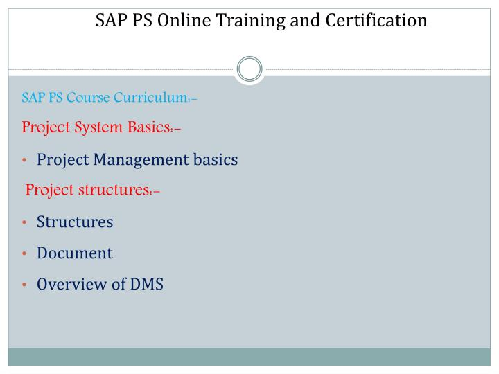 Ppt Sap Ps Online Training Classes Powerpoint Presentation Id