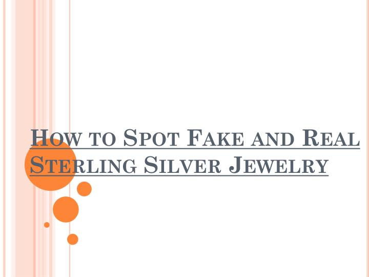 how to spot fake and real sterling silver jewelry n.