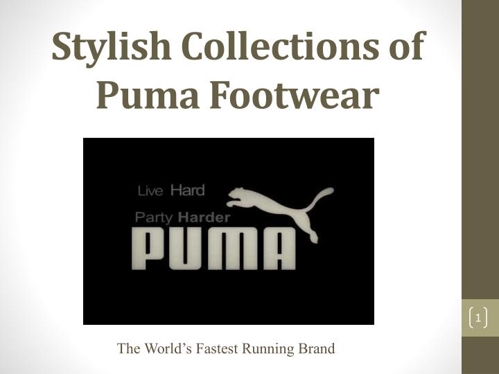 ppt stylish collections of puma footwear powerpoint presentation free download id 7111686 slideserve