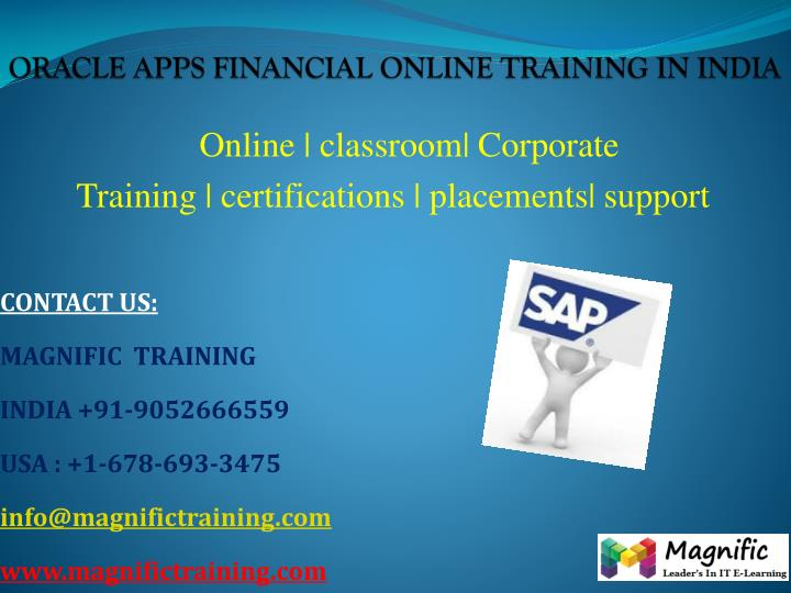 Oracle apps financial online training in india