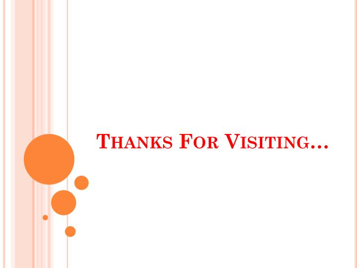 Thanks For Visiting…