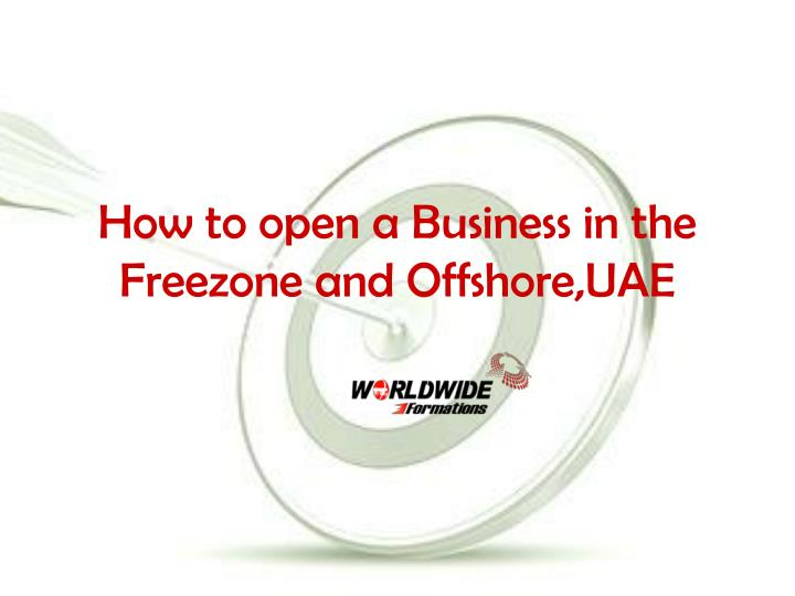 how to open a business in the freezone and offshore uae n.
