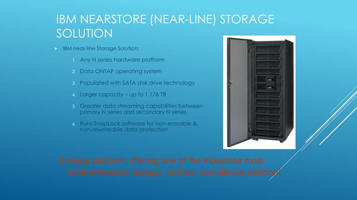 IBM NearStore (near-line) Storage Solution