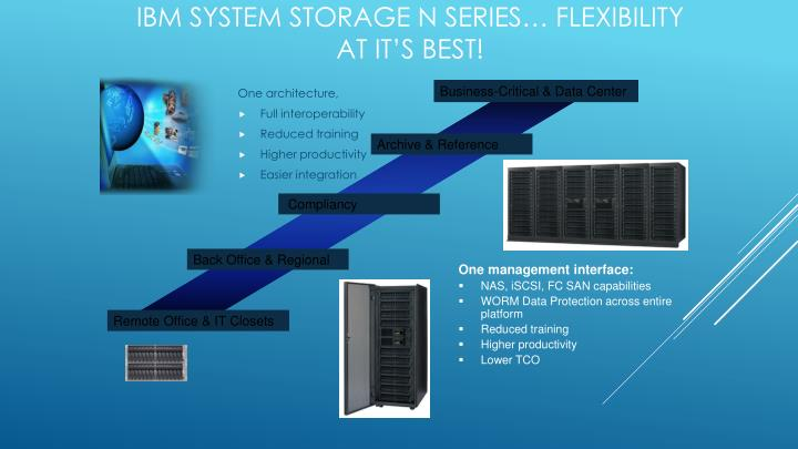 IBM System Storage N series… Flexibility at it's best!