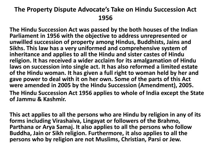 the property dispute advocate s take on hindu succession act 1956 n.