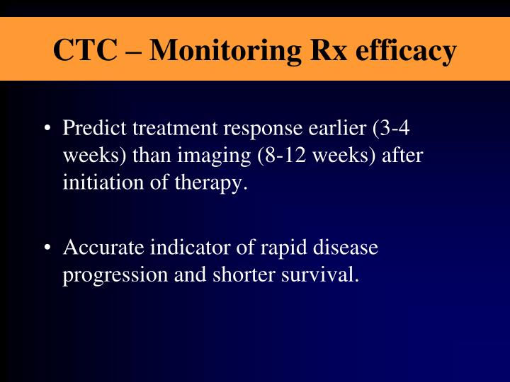 CTC – Monitoring Rx efficacy