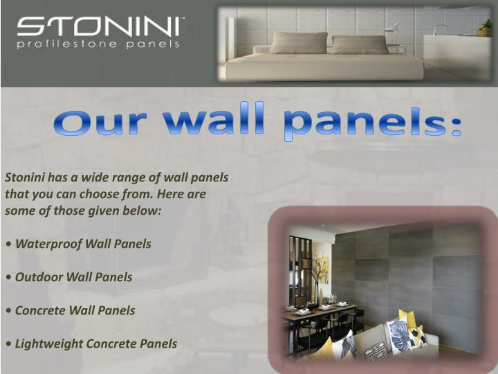 Our wall panels: