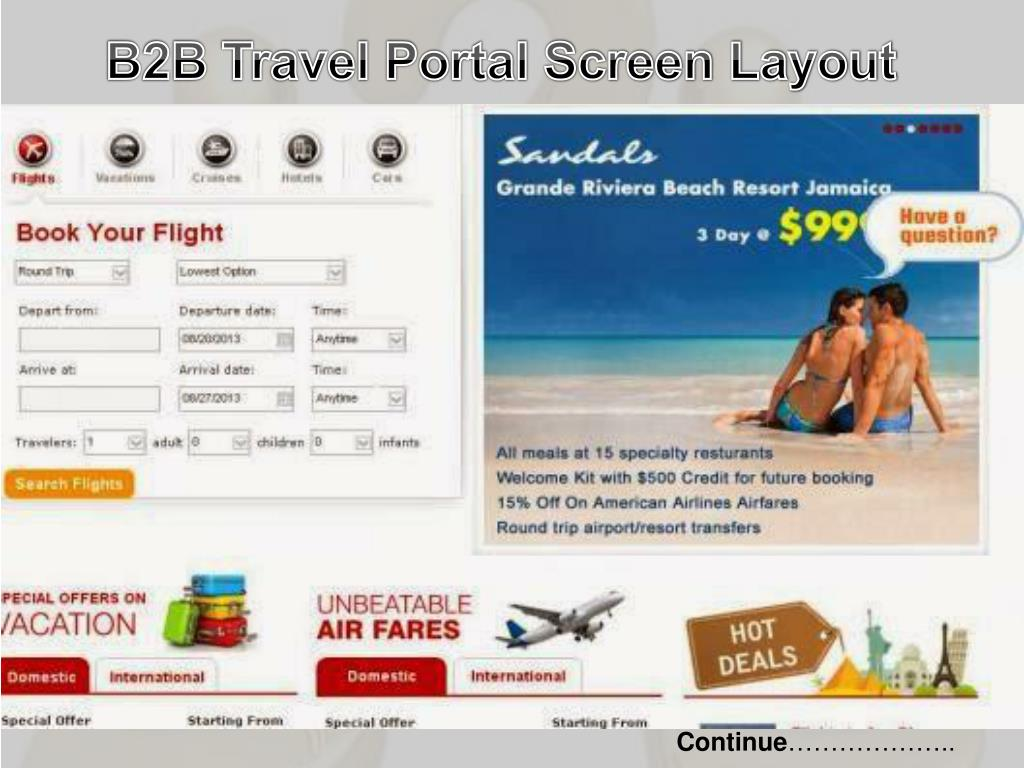 PPT - B2B-Portal-for-Travel-Agents-in-India PowerPoint Presentation
