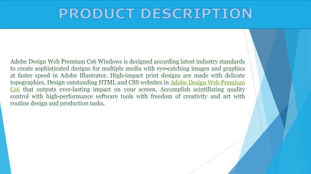 Ppt Adobe Design Web Premium Cs6 Dvd Windows Powerpoint Presentation Id 7113273
