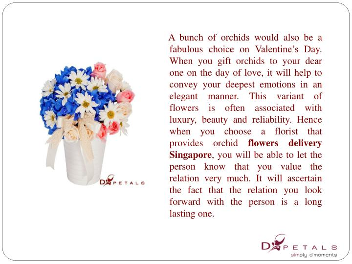 A bunch of orchids would also be a fabulous choice on Valentine's Day. When you gift orchids t...