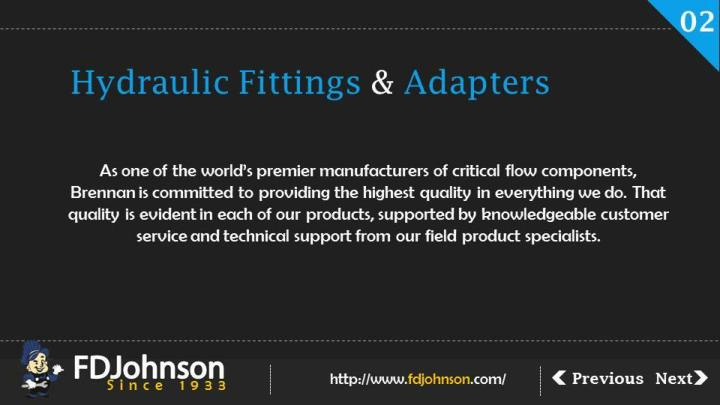 Hydraulic fittings and adapters by brennan