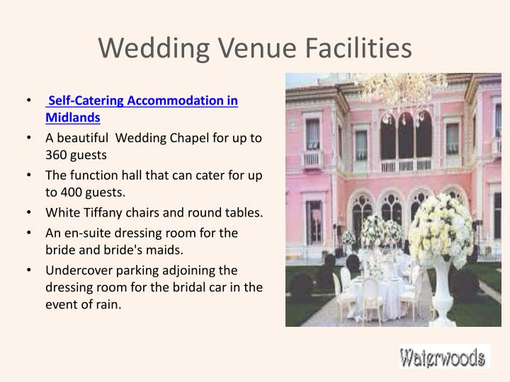 W edding venue facilities