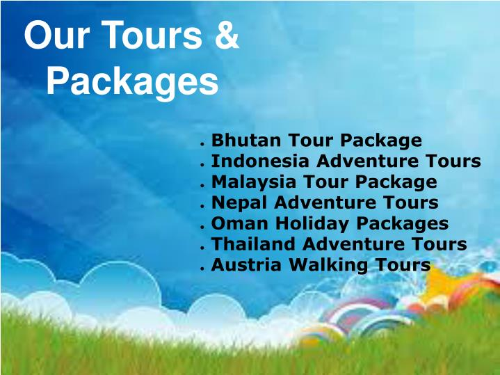 Our tours packages