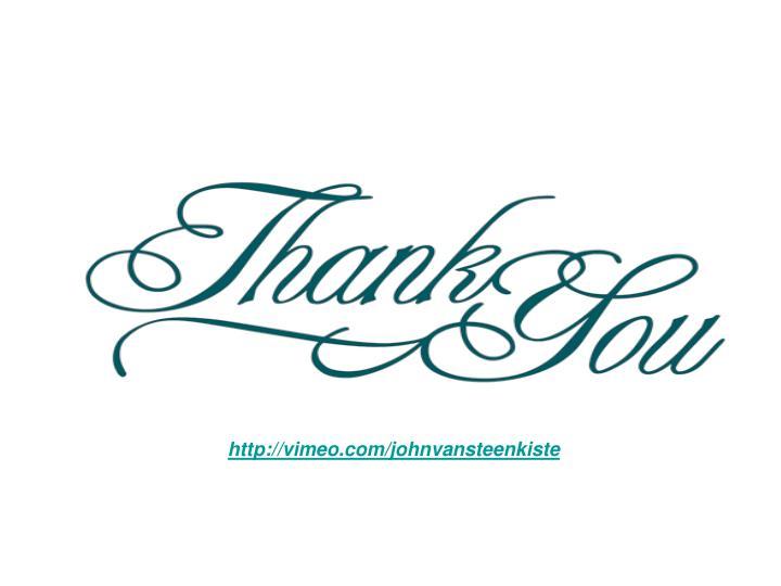 http://vimeo.com/johnvansteenkiste