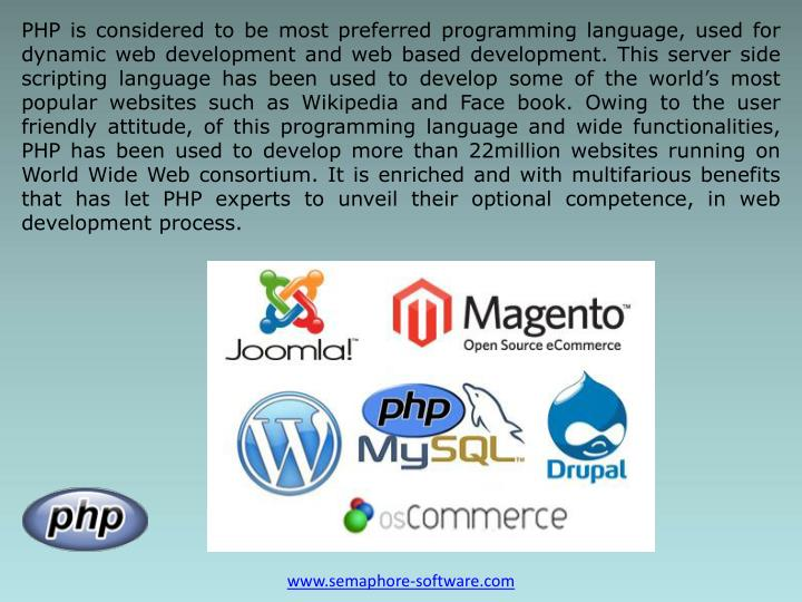 PHP is considered to be most preferred programming language, used for dynamic web development and we...