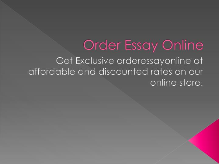 get essays online If you want to buy college paper online from best essays service all you have to do is click on the order button and get started.