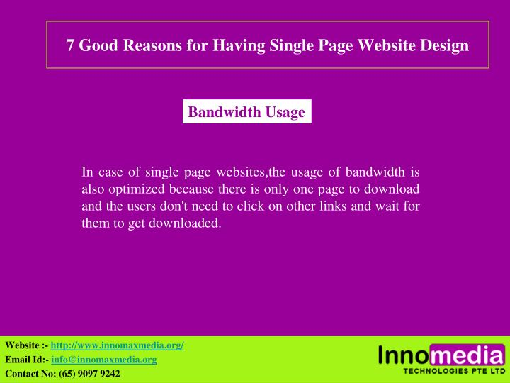 7 Good Reasons for Having Single Page Website Design