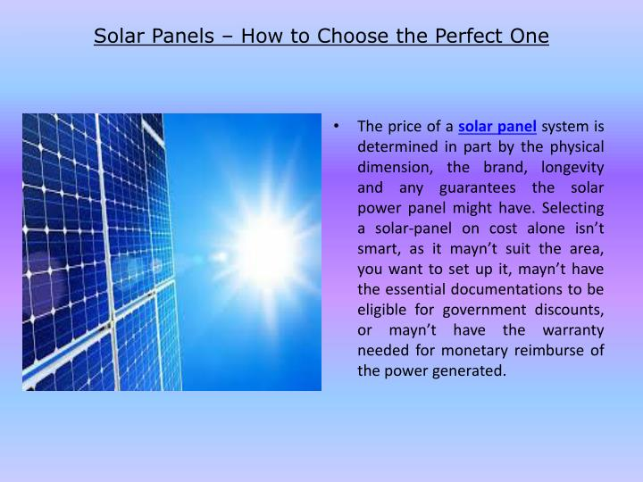 solar panels how to choose the perfect one n.