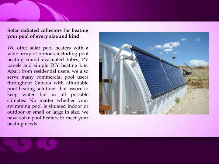 Ppt Evacuated Tube Solar Pool Heaters In Simple Kits