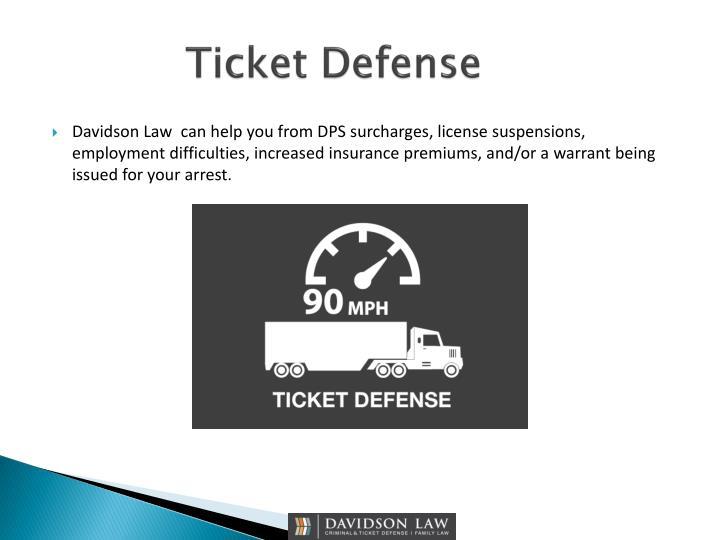 Ticket Defense