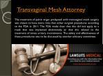 transvaginal mesh attorney