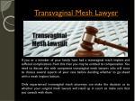 transvaginal mesh lawyer