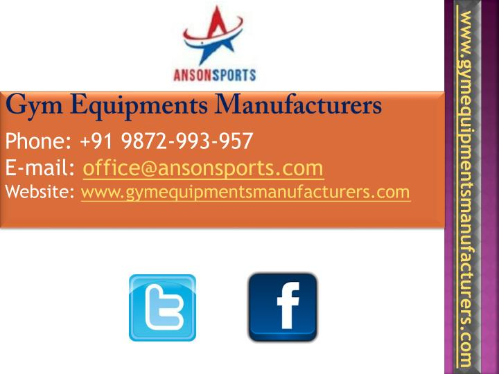 Gym Equipments Manufacturers