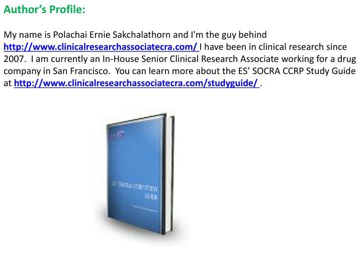 Author's Profile: