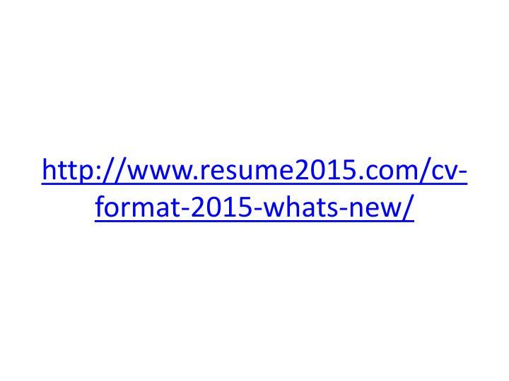 ppt - cv format 2015 powerpoint presentation