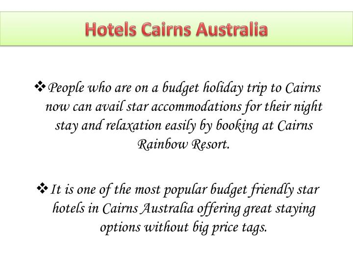 Hotels cairns australia