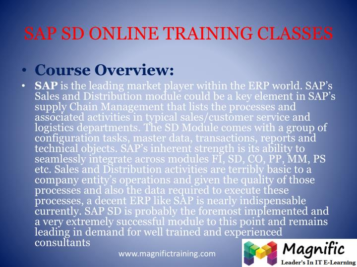 Sap sd online training classes