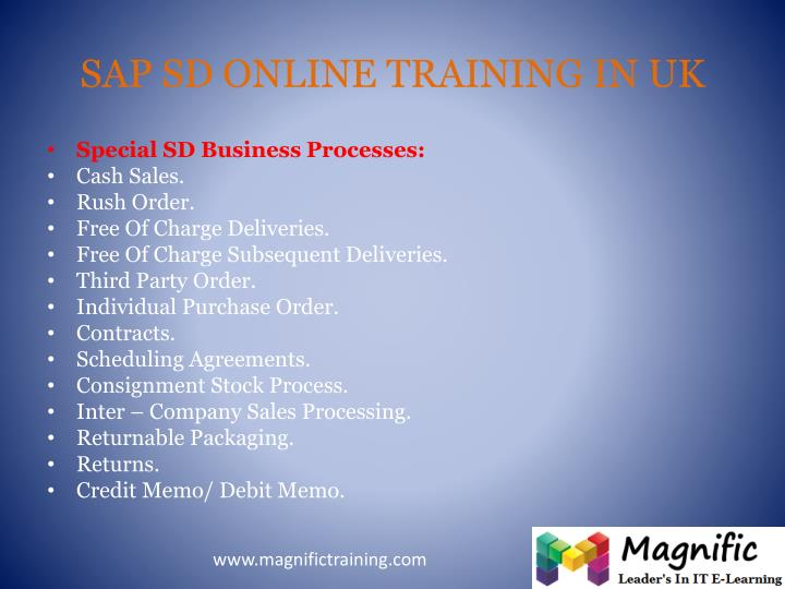 SAP SD ONLINE TRAINING IN UK