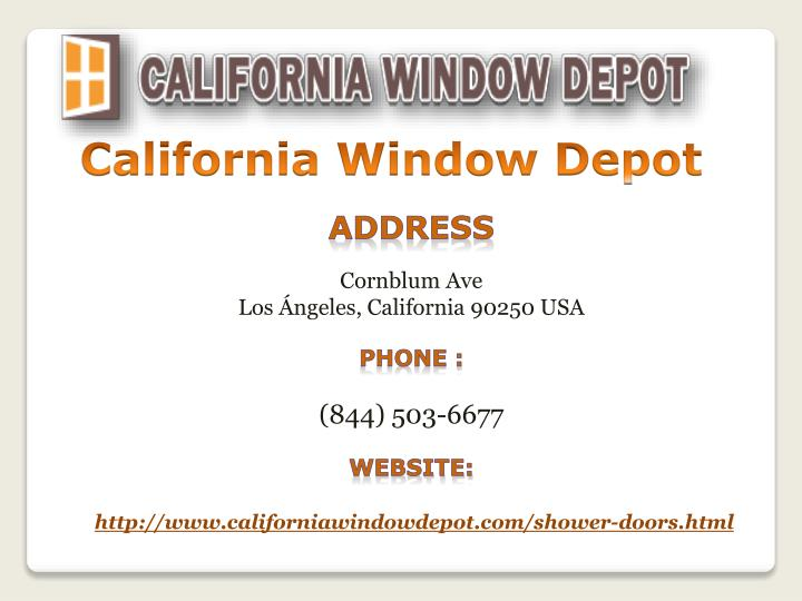 California Window Depot