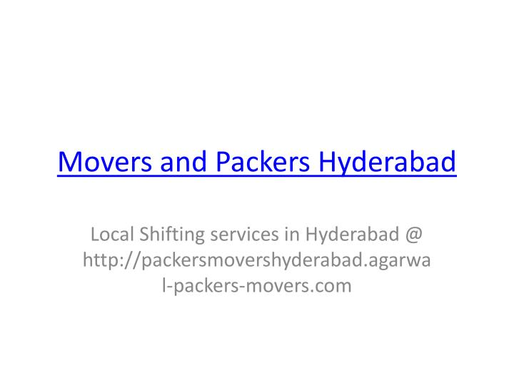 movers and packers hyderabad n.