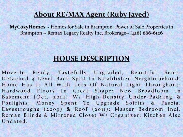 About RE/MAX Agent (Ruby