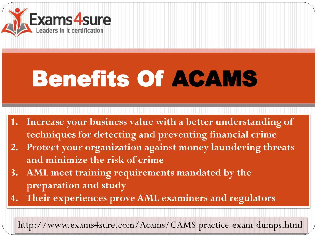 acams certification study material ppt powerpoint presentation